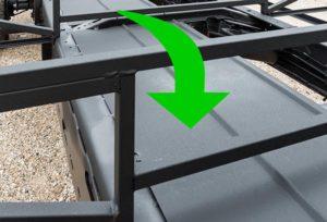 Galvanized steel subfloor