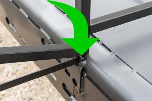 TUFF TRUSSES on top of rail