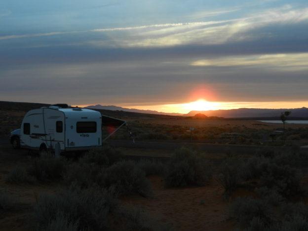 High Plains sunset, Sand Lake State Park, Utah