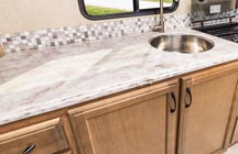 New for 2018 - Lighter laminated and solid surface countertops