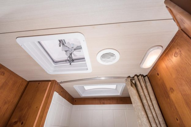 Gulf Stream Coach bath ceiling