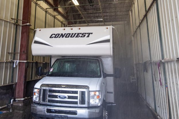 Conquest Class C in Rain Booth